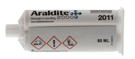 Araldite 2011, 50 ml Yellow Dual Cartridge Epoxy Adhesive for Polyamide