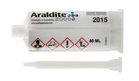 Araldite 2015, 50 ml Beige Dual Cartridge Epoxy Adhesive for Various  Materials