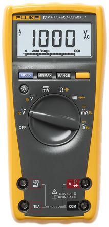 1641542 fluke 177 digital multimeter handheld 10a ac 1000v ac rh uk rs online com Fluke 177 Multimeter Manual PDF fluke 177 true rms multimeter instructions