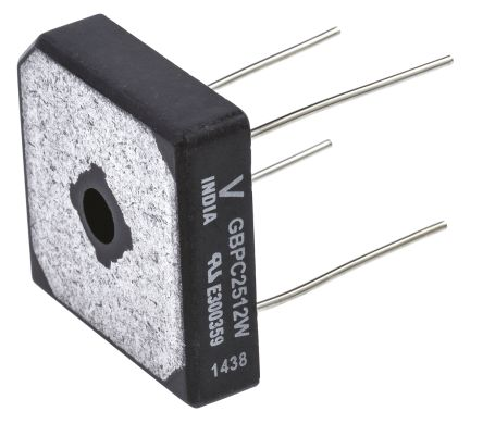 Vishay VS-GBPC2512W, Bridge Rectifier, 25A 1200V, 4-Pin GBPC-W