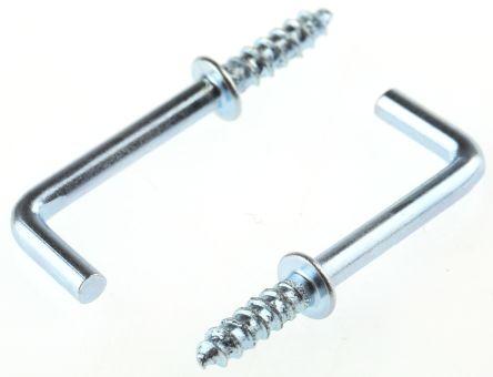 ZnPt steel shouldered square hook,20mm