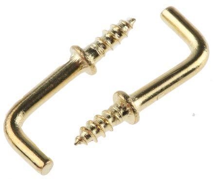 Brass shouldered square hook,13mm