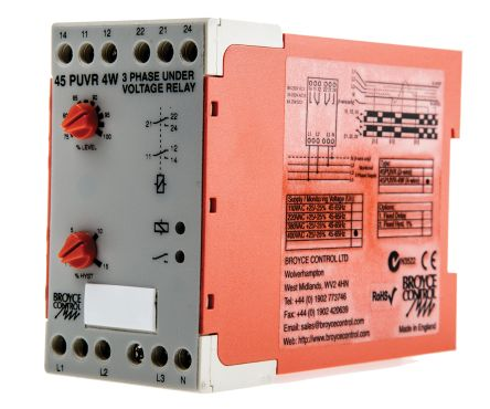 Broyce Control Phase, Voltage Monitoring Relay With DPDT Contacts, 400 V  ac, 3 Phase