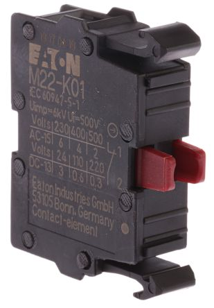 Eaton Contact Block for use with N(S)1(-4) Series, NZM1(-4) Series, PN1(-4) Series