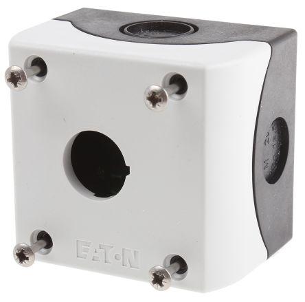 Eaton M22 NO/NC 22mm Enclosed Push Button, IP66 56mm Grey Plastic 72mm +70°C -25°C 1 80mm