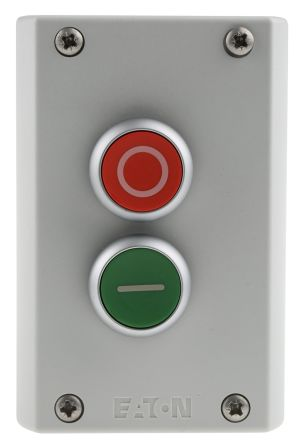 Momentary Operation Silver Bezel Color Green Button Color Extended Mounted SPST-NO // SPST-NC Contacts Eaton C22-DH-G-K11 Pushbutton Switch