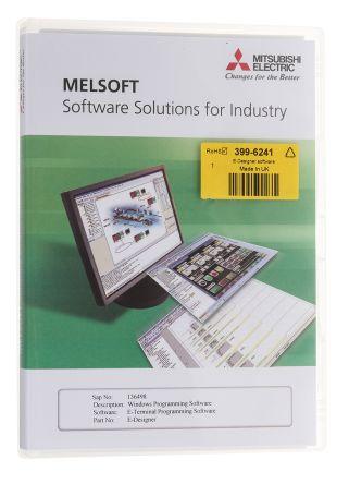 Mitsubishi Software E Designer For Use With HMI E1000 Series, MAC E Series, PLC MELSEC