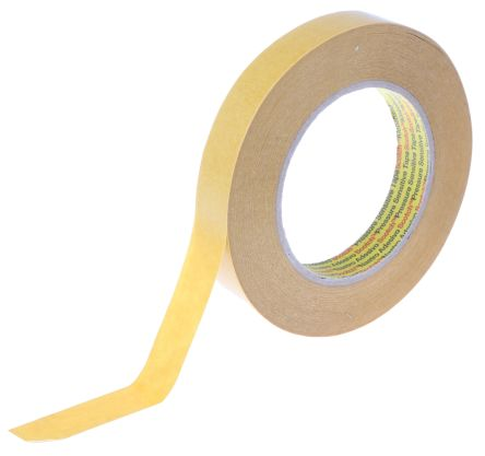9040 Beige Double Sided Paper Tape, 19mm x 50m, 0.1mm Thick product photo