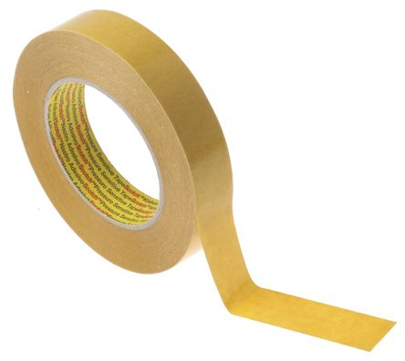 9mm x 50m RS Pro White Double Sided Paper Tape