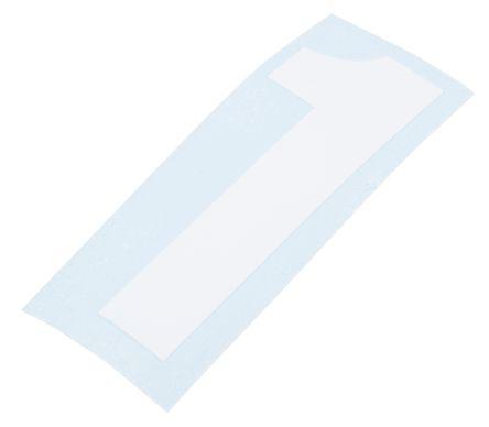 White die cut label,50mm high numbers