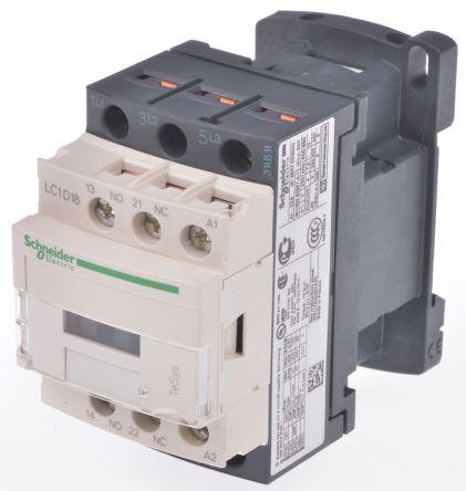 Contacteur avec contacts 3NO, 18 A, 400 V c.a.