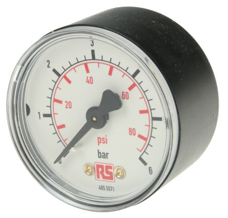 WIKA 7203522 Analogue Positive Pressure Gauge Back Entry 6bar, Connection Size R 1/4