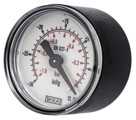 WIKA 7203726 Analogue Positive Pressure Gauge Back Entry 0bar, Connection Size R 1/8