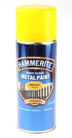 5092968 Hammerite 400ml Yellow Smooth Spray Paint