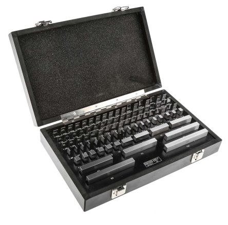 RS PRO Gauge Block Set Steel Metric, 87 piece