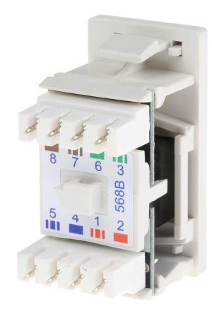 Standard Cat6 RJ45 UTP socket module