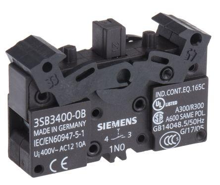 Bloque de contactos Siemens 3SB34000B, 1 NA, terminal Roscado