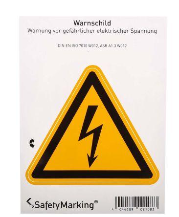 21.0191 1 x Electricity Hazard Label, Black/Yellow Self-Adhesive PVC product photo