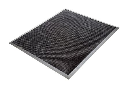 Fingertip Anti-Slip, Walkway Mat, Rubber Scraper, Indoor, Outdoor Use, Black, 600mm 800mm 13mm product photo
