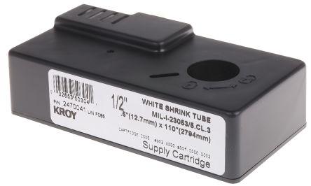 Black on yellow heatshrink tube,3.2mm