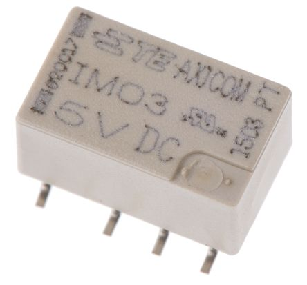 TE Connectivity IM DPDT Non-Latching Relay PCB Mount, 5V dc Coil, 2A