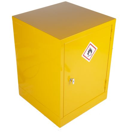 Yellow Steel Lockable 1 Doors Flammable Cabinet, 609mm x 457mm x 457mm product photo