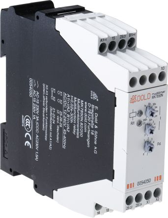 Dold Multi Function Timer Relay, 0 03 → 300 min, 0 06 → 30 s, 3 → 300 h,  DPDT, 2 Contacts