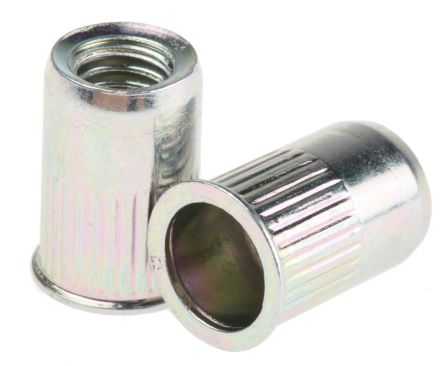 Böllhoff Plain, M6 Steel Threaded Insert, 10mm diameter 9mm Depth 14mm