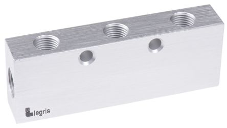 6 Outlet Pneumatic Manifold Threaded Fitting, G 3/8 G 1/4