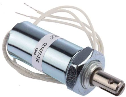 Pull Action Tubular Solenoid, 17.8mm stroke, 12 V dc, 7W