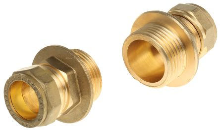22mm x 1 in BSPP Male Straight Coupler Brass Compression Fitting product photo