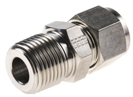 Straight connector,1/2in OD 1/2in NPT product photo