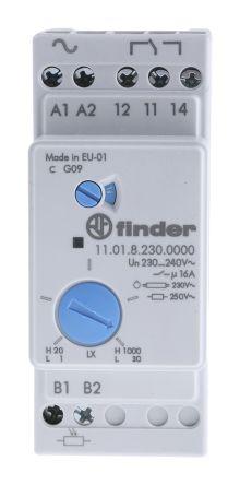 Schema Elettrico Per Temporizzatore : 11.01.8.230.0000 interruttore crepuscolare guida din 1101 finder
