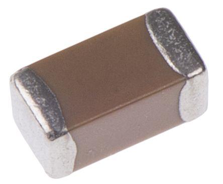 KEMET 1206 (3216M) 1μF MLCC 25V dc ±10% SMD C1206C105K3RACTU