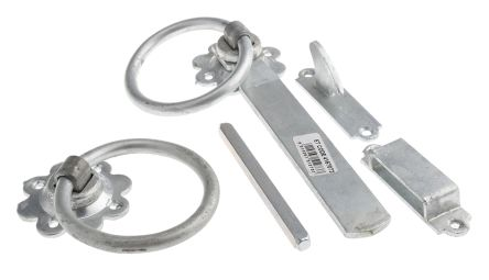 Steel Ring Gate Latch with Galvanised Finish product photo
