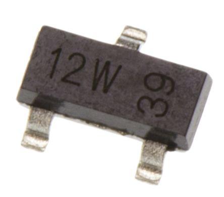 N-Channel MOSFET, 300 mA, 60 V, 3-Pin SOT-23 Nexperia 2N7002,215