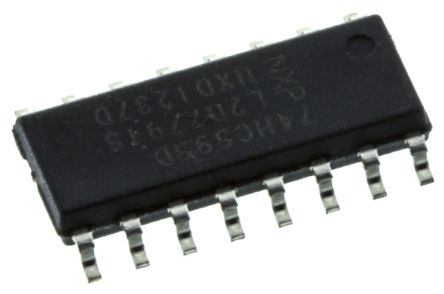 Nexperia 74HC595D,112 8-stage Shift Register, Serial to Serial/Parallel, , Uni-Directional, 16-Pin SOIC