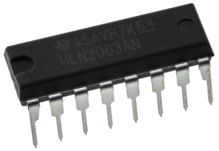 Texas Instruments ULN2003AN, 7-element NPN Darlington Pair, 500 mA 50 V, 16-Pin PDIP