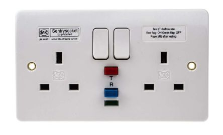 MK Electric K6231 WHI Гнездо RCD