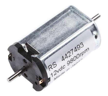Canon DC Motor, 1 4 W, 12 V dc, 0 25 Ncm, 9800 rpm