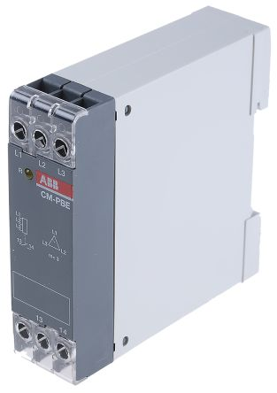 ABB Phase Monitoring Relay with SPST Contacts, 1, 3 Phase, 380 → 440 V ac