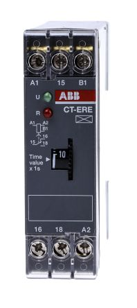 ABB ON Delay Single Timer Relay, 0.1 → 10 s, SPDT, 1 Contacts, SPDT, 200 → 240 V ac, 24 V ac/dc