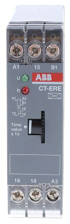 ABB ON Delay Single Timer Relay, 3 → 300 s, SPDT, 1 Contacts, SPDT, 24 V ac/dc, 200 → 240 V ac