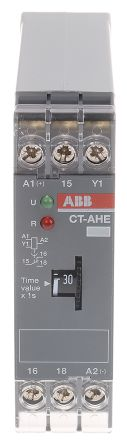 OFF Delay Single Timer Relay, 0.3 → 30 s, SPDT, 1 Contacts, SPDT, 220 → 240 V ac