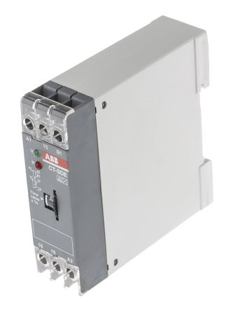 ABB ON Delay Single Timer Relay, 0.3 → 30 s, SPDT, 2 Contacts, DPDT, 24 V ac/dc, 200 → 240 V ac