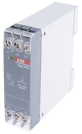 ABB Phase Monitoring Relay with SPDT Contacts, 3 Phase, 208 → 440 V ac