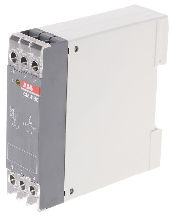 ABB Phase Monitoring Relay with SPST Contacts, 1, 3 Phase, 220 → 240 V ac, 380 → 440 V ac