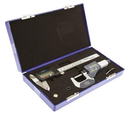 RS PRO Metric & Imperial Digital Caliper, Micrometer Measuring Set