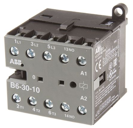 Contacteur avec contacts 3NO, 9 A, 127 V c.a.