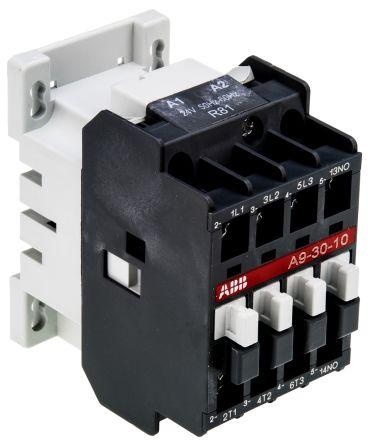 AF Range AF09 3 Pole Contactor, 3NO, 25 A, 4 kW, 24 V ac Coil, Screw Terminal